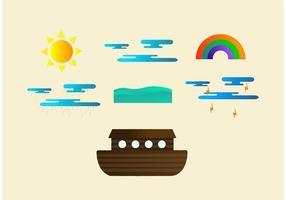 Vetores da arca do clima difícil