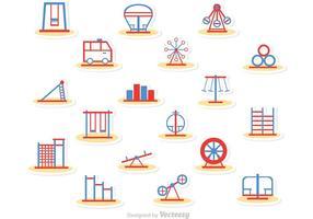 Pacote de vetores de ícones de playground de linha simples