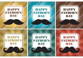 Vetores felizes do cartão do dia dos pais
