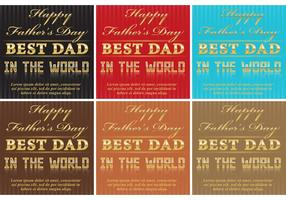 Vetores de cartão de dia feliz do dia dos pais