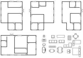 Vetores do plano de arquitetura