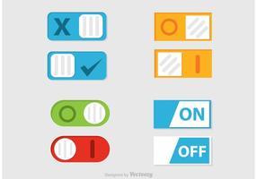 Ativar o botão de botão Desligado vetor