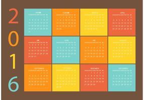 Calendário de Grade de vetores grátis 2016