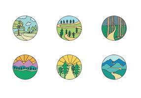 Série de vetores Free Woodland Path