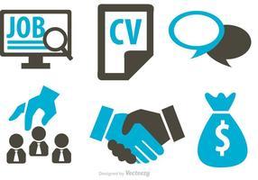 Ícone de ícones do conceito de negócio do trabalho vetor