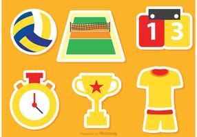 Vetores de ícones de voleibol