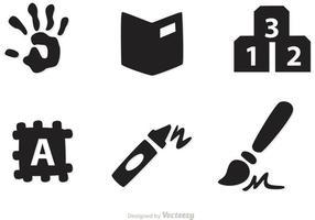 Vetores de ícones pré-escolares
