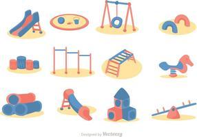 Pacote de vetores de ícones de playground de desenhos animados