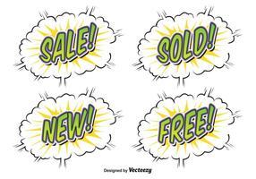 Rótulos de venda estilo estilo vetor