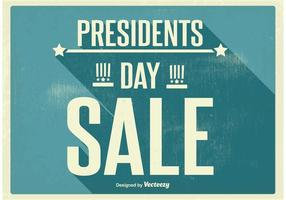 Cartaz vintage da venda do dia dos presidentes vetor