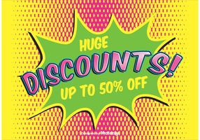 Fundo Comic Style Discount vetor