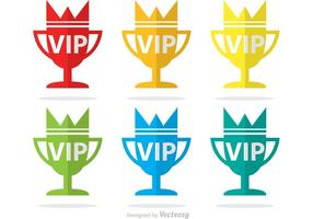 Pacote vip trophy icons vector