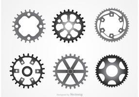 Vetores de rodas dentadas de metal
