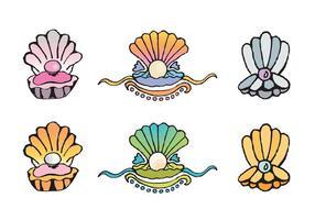 Série livre de vetores de conchas de pérolas