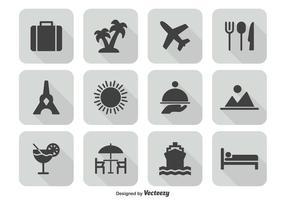 Conjunto de ícones de viagem vetor