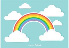 Ilustração bonito do arco-íris vetor