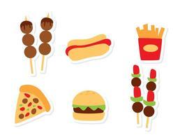 Vetores de ícones alimentares