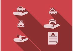 Conjunto de vetores de concessionárias de automóveis