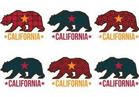Vetores de urso de Califórnia com padrões