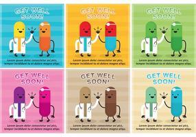 Get Well Soon Card Vectors