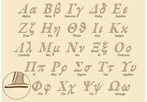 Clássico grego Alphabet Vector Pack