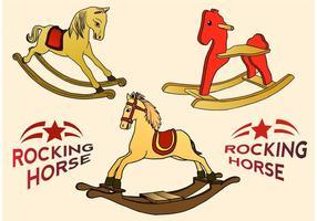 Brinquedos de brinquedos de cavalo balançando vetor
