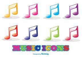 Conjunto de ícones de música vetorial vetor
