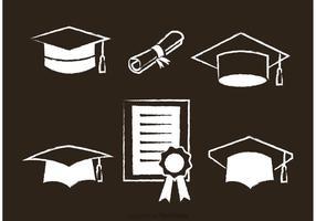Ícones brancos do vetor graduado