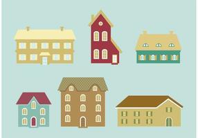 Ícones de vetor de casas