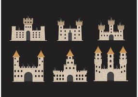 Vetores de ícones do forte