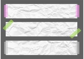 Banners de papel amassado com vetor livre