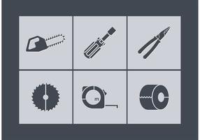 Ícones de ferramentas de vetores grátis
