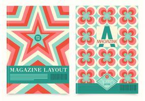 Vector de layout de revista retro livre