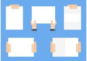 Livre mão segurando vetor de papel em branco