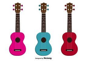 Conjunto de vetores de ukulele