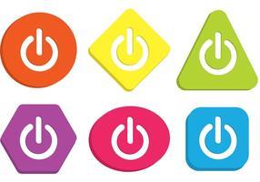 Vetores de botões coloridos em off
