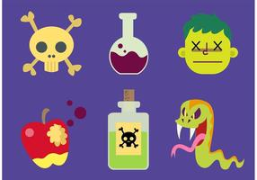 Vetores de veneno de desenhos animados