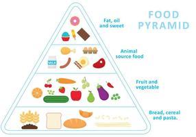 Vector da Pirâmide de Alimentos