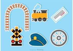Ícones do trem do vetor