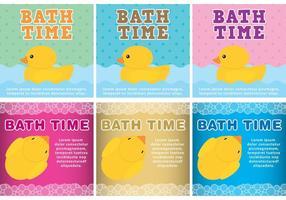 Fundos do vetor do tempo do banho