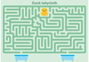 Vector de labirinto de pato de borracha