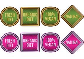 Emblemas de vetor de comida natural