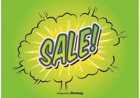 Fundo Comic Style Sale vetor