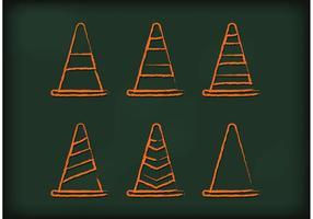 Vetores de cone de laranja