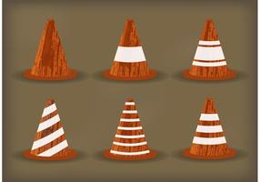 Vetores de cone de laranja grunge