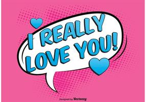 Comic Style Love Background Vector