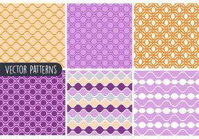 Conjunto de padrões de vetores geométricos coloridos