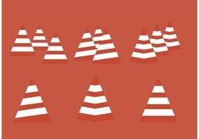 Síntese de cone de laranja vetorial vetor