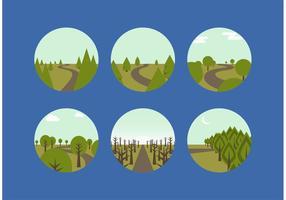Caminhos livres de floresta de vetores