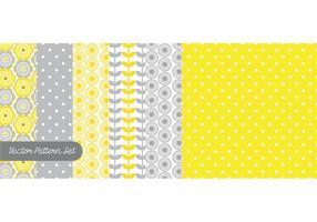 Conjunto de vetores de padrões amarelos e cinza